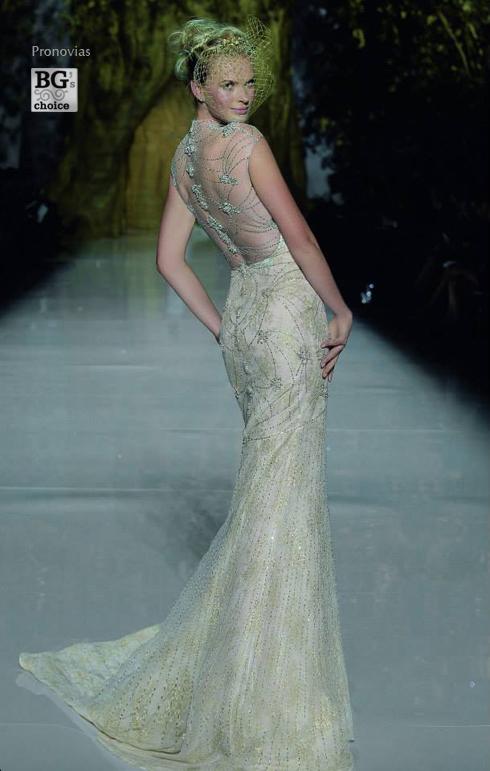 Rochii de mireasa stil printesa in prezentarea Pronovias Fashion Show 2014